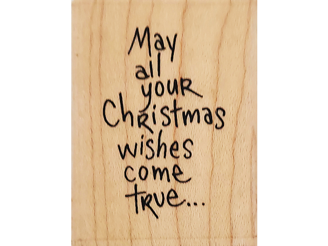 Stampendous 2006 Wishes Come True Wood Mounted Rubber Stamp#E209