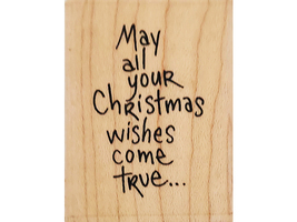 Stampendous 2006 Wishes Come True Wood Mounted Rubber Stamp#E209 image 1