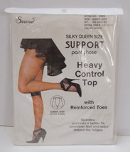 Serena Silky Queen Plus Size Pantyhose Support Heavy Control Top White - $16.80