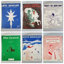 Vintage Sheet Music Christmas Holiday Songs Lot of 6 1930s 40s 50s - $27.89