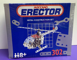 Meccano Erector Metal Construction Set HELICOPTER 155pc #302 NEW SEALED ... - $29.69