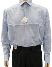 NEW NWT GIOBERTI MEN'S CLASSIC LONG SLEEVE BUTTON UP CASUAL DRESS SHIRT SKY BLUE image 1