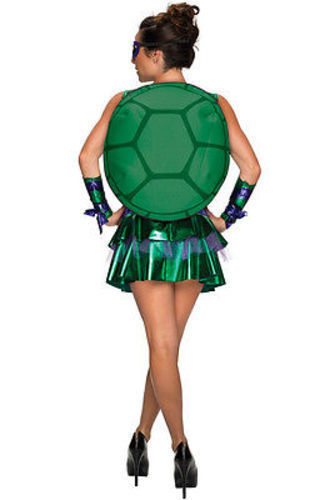 Adulto Mujer Donatello Tortugas Ninja Mutantes Cómic Disfraz Falda