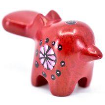 Tabaka Chigware Hand Carved Kisii Soapstone Red Hippopotamus Hippo Mini Figurine image 3