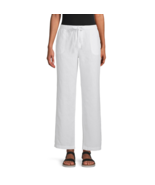 Liz Claiborne Wide Leg Drawstring Pants Size XXL Msrp $44.00 New White   - $16.99