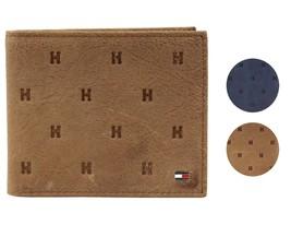 Tommy Hilfiger Men's Vintage Leather Credit Card Passcase Rfid Wallet 31TL220070