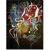 Wassily Kandinsky Abstract Painting Tile Murals BZ22726. Kitchen Backsplash Bath - $120.00+