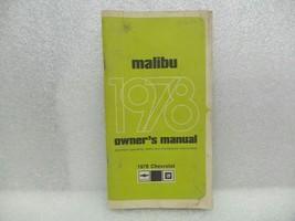 1978 MALIBU Owners Manual 16077 - $18.76