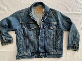 LEVI STRAUSS Signature Youth denim jacket cropped size SMALL Mint Rare - $28.49
