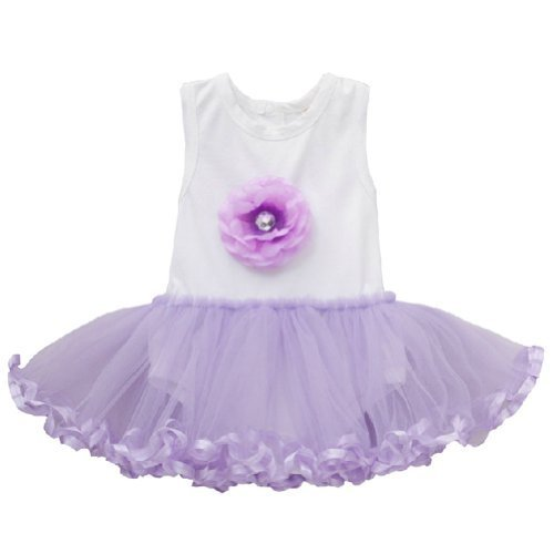 PURPLE Baby Girl Bodysuit Dress Infant Onesies Toddler One-piece Romper (90)