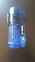 JET TORCH LIGHTER REFILLABLE WITH LED LIGHT - 1x w/RANDOM COLOR AND DESIGN image 2