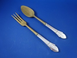 Sterling Silver Salad Set with Wood Servers  (#2912) - $69.00