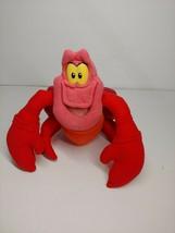 "Disney's vintage The Little Mermaid Sebastian  red crab 9"" plush - $14.85"