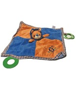 Mary Meyer Baby Security Blanket Lovey Teether Plush Lion Orange and Blue  - $10.62
