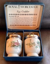 Vintage Royal Worcester Egg Coddler Set Bird hummingbird Premier Egg Cups  - $39.99