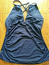 Ann Cole Navy Swimwear Top Size Large image 1