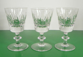 Val St. Lambert State Oxford Crystal Wine Goblet (S) Lot Of 3 Vintage Glass - $54.40