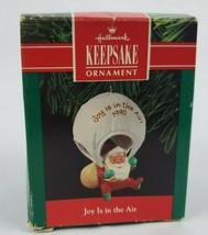 Hallmark Keepsake Joy is in the Air Christmas Ornament Santa Parachuting 1990 - $13.31