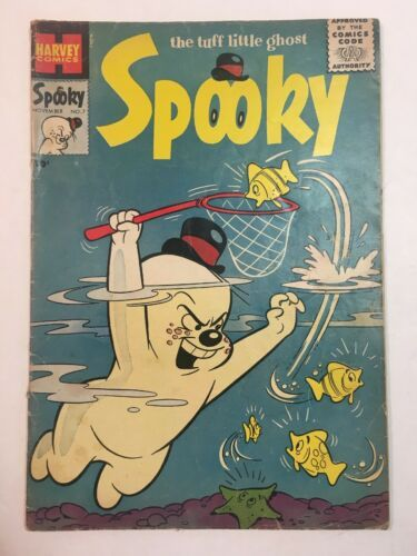 SPOOKY #7 1955 Harvey Comics Golden Age The Tuff Little Ghost