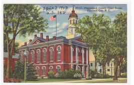 Court House Elizabeth North Carolina 1950c linen postcard - $5.94