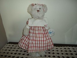 Ganz Chamomille Girl Bear in Dress H5250 White Plush 13.5 Inch New With ... - $37.53