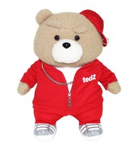 Izen Creation Hippop Stuffed Animal Teddy Bear Plush Toy 35cm 13.7 inches (Red) image 1