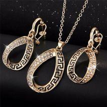 Women Designer Fashion Crystal Jewelry Set image 2