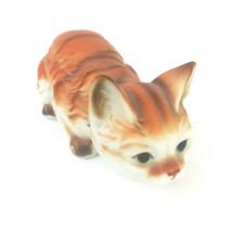 "Vintage Enesco 1986 Orange Tabby Kitten Ceramic Figurine Made in Taiwan 5"" - $14.82"