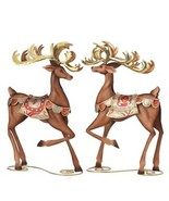 "Raz Imports Metal deer reindeer Christmas decor 15"" set of 2  3045795 - $63.99"
