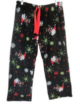 Peanuts Snoopy Women Pajama Pants plush fleece Christmas drawstring sz X... - $16.82