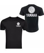 SILVER YAMAHA RACING BLACK T-SHIRT YZF R1 R6 YFZ BANSHEE FRONT & BACK - $16.82+