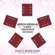 BOSCH GSS20-40 1/4 Sheet 5-Pack Sandpaper Blowout! 17 Grits! Free Ship! - $5.38
