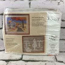 The Creative Circle Cross Stitch Kit #1528 Autumn Afternoon Desert Cactus - $14.84