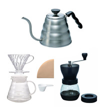 Hario V60 - 1.2 Liter Kettle,  Brewer Set & Coffee Mill -  Three Products - $110.87