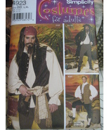 Simplicity 4923 Adult xs to M Reenactment Pirates Costume  - $9.95