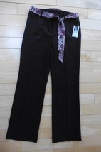 NEW A. Byer Work Dress Pants Brown size 11 with purple floral belt $39 - $25.00