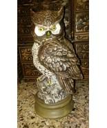 VINTAGE 1978 Byron Mold- Ceramic Pottery Owl statue figurine Mid Century... - $23.76