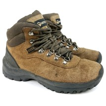 Earth Shoe Ashland Hiking Trail Boots Brown Leather Size Womens 7.5  - £17.25 GBP