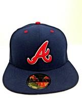 Atlanta Braves New Era Navy/Red  59Fifty,Cap,Hat  Brand New 7 1/8  - $14.34