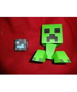 Minecraft CREEPER ACTION FIGURE toy with legs + Diamond Block - $8.00