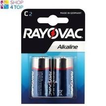 2 Rayovac Alkaline C LR14 Battery 1.5V Baby LR14 MN1400 AM2 E93 7000mAh New - $7.40