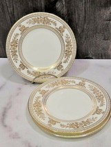 """Set of 4 Wedgwood Gold Columbia White 6"""" Bread Side Plates - $23.76"""