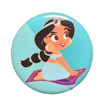 Aladdin Disney Pinback Button: Jasmine + Magic Carpet - $2.90