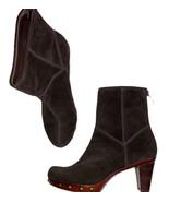 Stuart Weitzman Brown Suede Studded Heeled Boots - $65.00