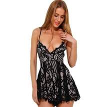 Black Floral Lace V-Neck One Piece Women Romper - $35.16
