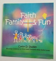 Faith Family & Fun Adult Coloring Book NEW Cathy Dudley Monthly Lessons ... - $12.99
