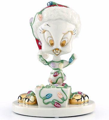 "Lenox Tweety Tangled in Lights Looney Tunes Figurine 5.25""H New In Box"
