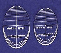 "Oval Quilt Templates 2 Piece Set. 7""- 8"" - Multi Purpose 1/4"" - $27.99"