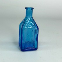 "Chief Wahoo Electric Tonic Cathedral Brand 4"" Miniature Blue Glass Bottle  - $13.99"