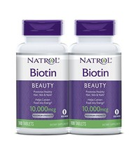 Natrol Biotin Beauty Tablets, Promotes Healthy Hair, Skin and Nails, Helps Suppo